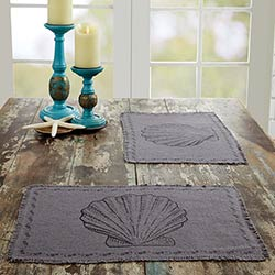 Sandy Grey Burlap Placemats (Set of 6)