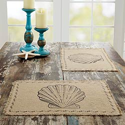 Sandy Tan Burlap Placemats (Set of 6)