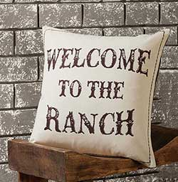 Welcome to the Ranch Decorative Pillow (with Down Fill)