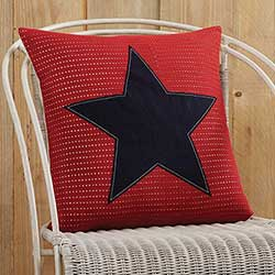 American Star Applique Pillow