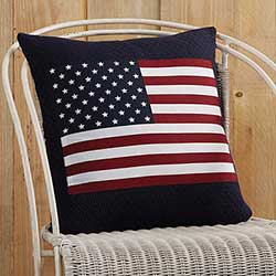 Flag Applique Pillow
