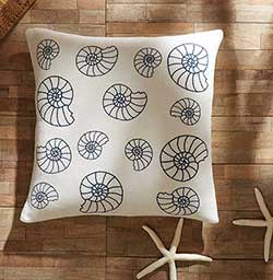 Seashell Enchantment Decorative Pillow (with Down Fill)