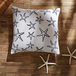 Day at the Beach Starfish Decorative Pillow (with Down Fill)
