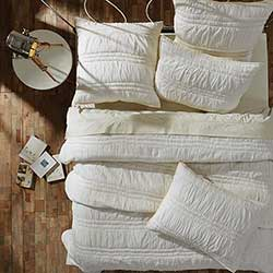 Natasha Pearl White Twin Quilt Set