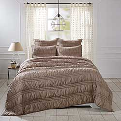Natasha Warm Taupe Luxury King Quilt Set