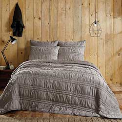 Natasha Urban Grey King Quilt Set