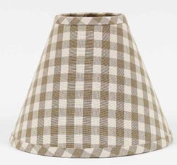 Heritage House Check Lampshades - Oat