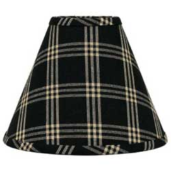 Middletown Check Lampshades - Black