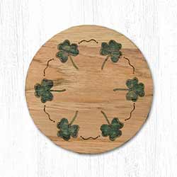 Shamrock Wood Coaster