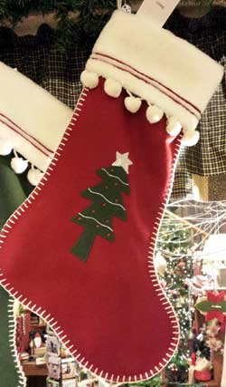 Wool Stocking - Tree