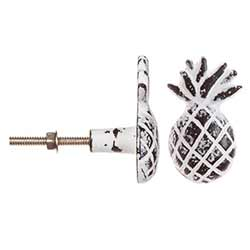 Whitewash Pineapple Knob (Set of 3)