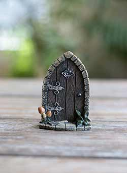 Fairy Garden Door with Mushrooms
