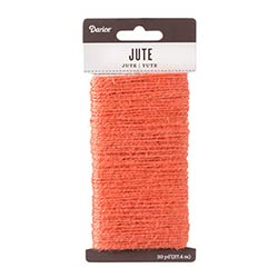 Jute Cord, 30 yards - Coral
