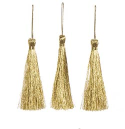 Metallic Gold Tassels (3 pack)