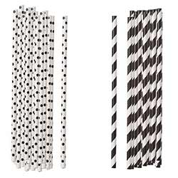 Black Paper Straws (Set of 100)