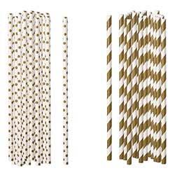 Gold Paper Straws (Set of 100)