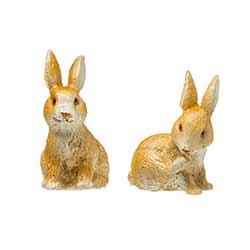 Rabbit Miniature Figurines (Set of 2)