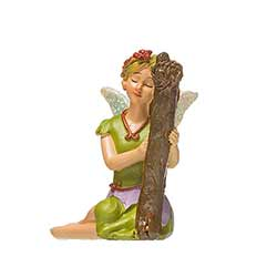 Fairy with Harp Figurine