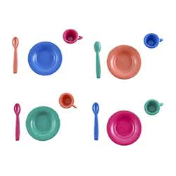 Colorful Miniature Place Settings (Set of 12 pieces)