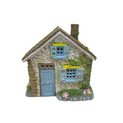 Stone Cottage House Figurine