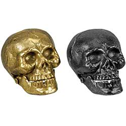 Iron Skull Decor (Set of 2)