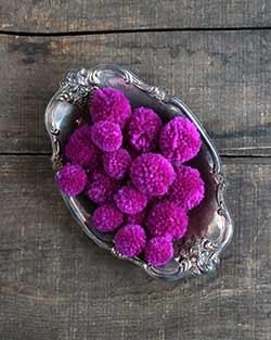 Yarn Pom Poms in Purple (20 pack)