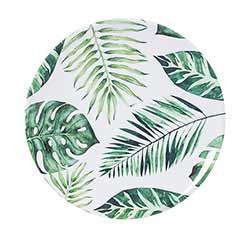 Palm Leaves Melamine Plates (Set of 4)