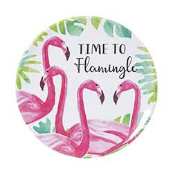 Flamingo Melamine Plates (Set of 4)
