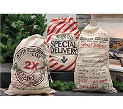 Santa Sacks, Large (Set of 3)