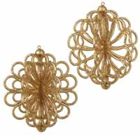 Glittered Ornament - Gold