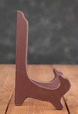 Wooden Plate Stand, Large - Burgundy