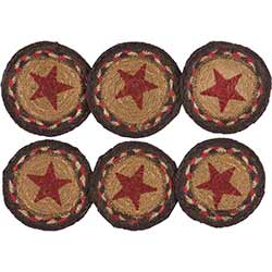 Landon Star Braided Coasters (Set of 6)