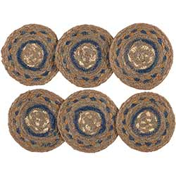Riverstone Braided Coasters (Set of 6)