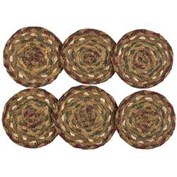 Tea Cabin Jute Coasters (Set of 6)