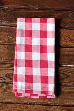 Flame Red & White Checkers Napkin