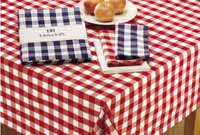 Flame Red & White Checkers Tablecloth, 60 x 84