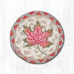 Autumn Leaves Braided Coaster