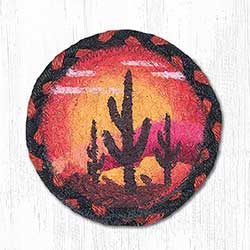 Desert Sunset Braided Coaster