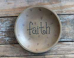 Faith Shallow Bowl with Stars