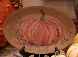 Give Thanks Pumpkin Oval Plate