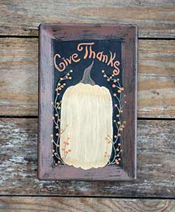 Give Thanks White Pumpkin Tray