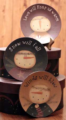Warm Snow Winds Plates (Set of 3)