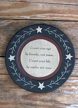 Count Your Life Plate