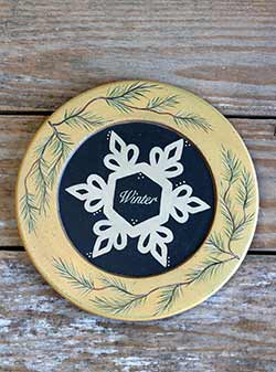 Winter Snowflake Plate