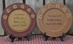 Friends and Family Tag Plates (Set of 2)