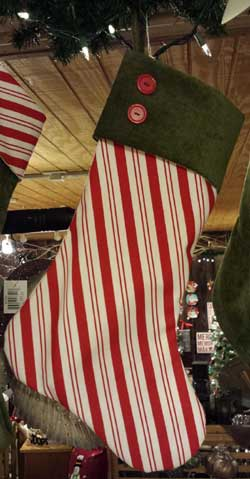 Candy Cane / Chenille Stocking