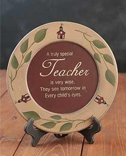Special Teacher Plate