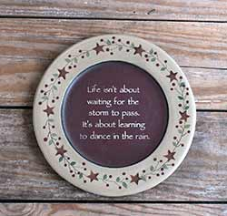 Dance In The Rain Plate - 9.5 inch