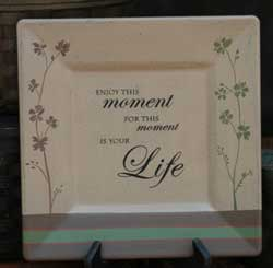 Enjoy This Moment Square Plate