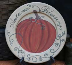 Autumn Blessings Plate